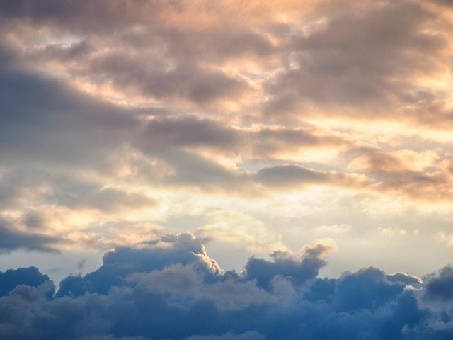 Moln på himlen